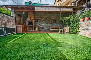 Barbacoa y jardín privados