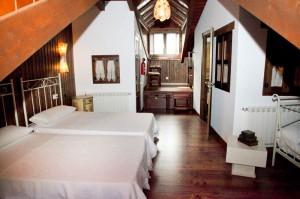 Habitaciones con artesonados de madera